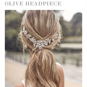 Anna Campbell olive bridal headpiece